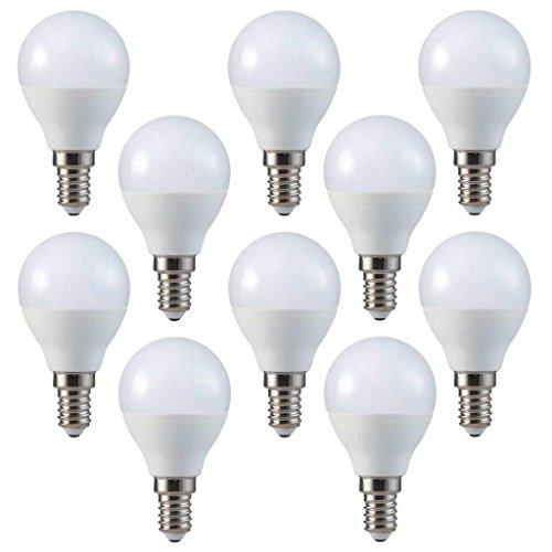 V-TAC LED 3 W P45 de pelota de Golf Bombillas - 10 unidades - E14/SES/