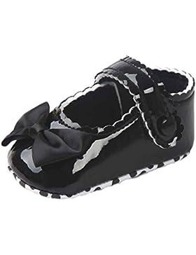 Baby Lauflernschuhe,Chshe Baby Bowknot Leater Schuhe Sneaker Anti - Slip Weich Sole Toddlerr