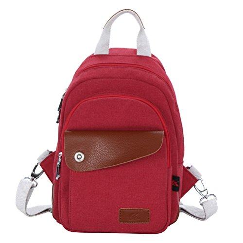Tinksky multifunzione da uomo donna, Unisex, con zaino, Messenger e borsa Tote, colore: rosso