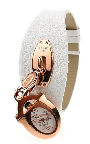 Cerruti Icone CT100212X01 - Reloj de mujer de cuarzo, correa de piel color blanco