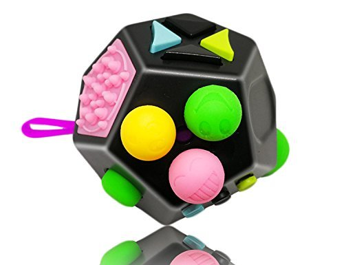 yiiyaa Rompecabezas Puzzles 3D Resistente a Estrés Ansiedad Juguetes Bola Mágica Dodecágono para Niños, Adolescentes y Adultos en el Trabajo o Escuela (Multicolor)