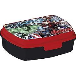 ALMACENESADAN 2040 Sandwichera Restangular Avengers Gallery; Producto de plástico; Libre BPA; Dimensiones Interiores 16,5x11,5x5,5 cm