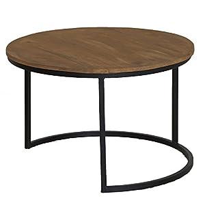 Beistelltisch Holz Metall Rund Deine Wohnideen De