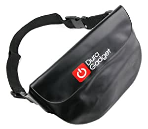 DURAGADGET All-Purpose Waterproof Waist Bag / Dry Pouch for Phones, Cameras & Valuables - Perfect for Your Summer Holidays! (Black)