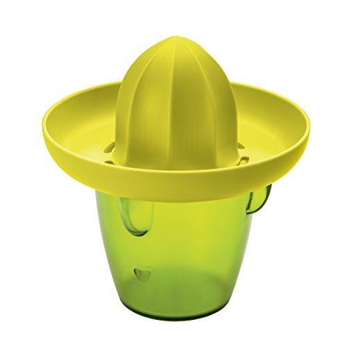 Koziol 3680588 Presse-Citron Pedro Olive/Moutarde, Plastique, 14,5x14,5x16 cm