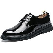 c27815668da800 Bangxiu Herren Lederschuhe Oxford Lässige Komfortable Klassische Einfache  Reine Farbe Sohle Lackschuhe Formelle Business-Bequeme