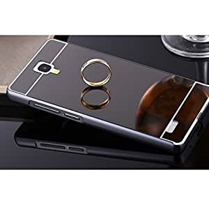AE Luxury Metal Bumper + Acrylic Mirror Back Cover Case For SAMSUNG GALAXY NOTE 3 NEO (7505) GREY PLATED