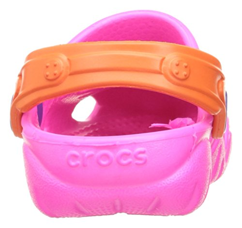 Crocs Swiftwater Clog, Sabots Mixte Enfant Neon Magenta/Tangerine