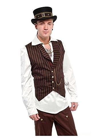 Altissimo Moda - Gilet - Sans Manche - Homme Multicolore Black/brown - Noir - L