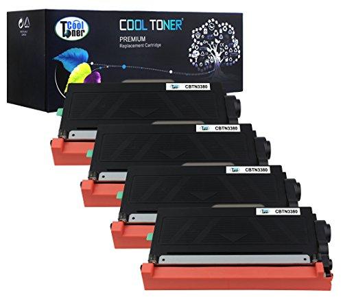 Preisvergleich Produktbild Cool Toner kompatibel Toner fuer TN-3380 TN3380 TN 3380 fuer Brother HL-5440D HL-5450DN HL-5450DNT HL-6180DW HL-6180DWT HL-5470DW HL-5470DWT MFC-8510DN MFC-8520DN MFC-8710DW MFC-8810DW MFC-8910DW MFC-8950DW MFC-8950DWT, 8000 Seiten, 4-Pack