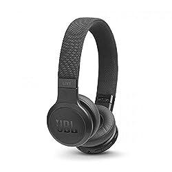 JBL Live 400BT kabellose On-Ear Kopfhörer - Bluetooth Ohrhörer mit bis zu 24 Stunden Laufzeit und Alexa-Integration - Musik hören und telefonieren unterwegs Schwarz
