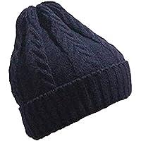 Elecenty Uomo Inverno Caldo Cappelli larghi lavorati a maglia Cappelli  normali Cappellino da sci oversize Cappello adc4b741b661