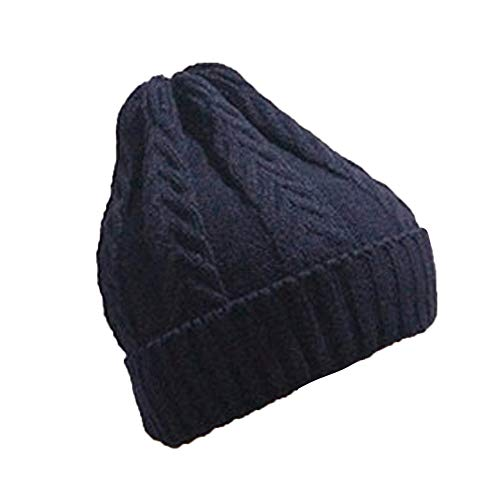 FeiBeauty Männer Frauen Baggy Warm Crochet Winter Wolle Strick Ski Beanie Outdoor-Ohrenschützer-Mütze mit verdrehter Strickmütze Caps Hut