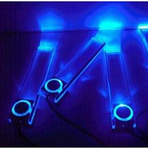 Tenflyer Neu 12V 4 LED Auto Innenraum Dekoration Licht Lampe Leuchte Innenlicht Blau
