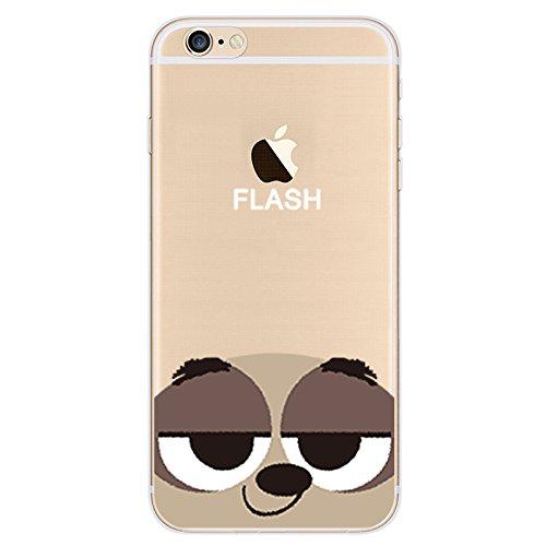 Disney ZOOTOPIA Transparent TPU Soft case for Apple Iphone 5/5S/5SE & 6/6S (APPLE IPHONE 6/6S, FLASH)