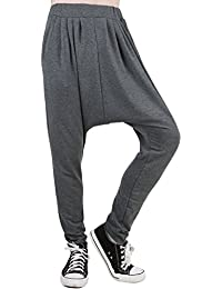 Sourcingmap Allegra K Men Elastic Waist Tapered Leg Baggy Harem Pants