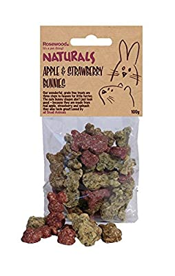 Naturals Small animal treats Strawberry & Apple Bunnies 100g by Rosewood