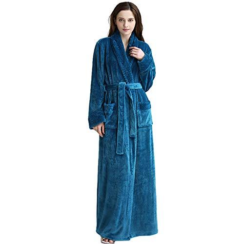 e Damen Herren,LouisaYork Damen Bademantel Morgenmantel Saunamantel, Flauschig Weiche Gemütliche Robe ()