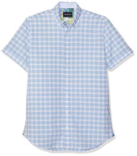 Daniel Hechter Herren Freizeithemd Shirt Modern Fit Blau (Blue 620) 44 (Herstellergröße: XL) -