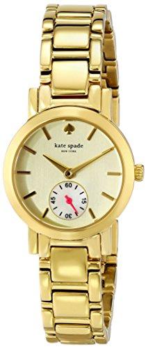 KATE SPADE WOMEN'S 24MM GOLD PLATED BRACELET QUARTZ ANALOG WATCH 1YRU0482