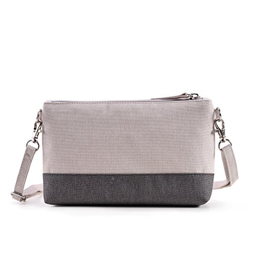 Bwiv Damen Canvas Umhängetasche Schultertasche Messenger Bag Crossbody Tasche für Outdoor F C