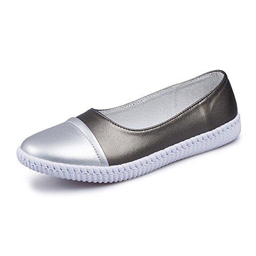 TYLS Shoes lww-Calzature donna Appartamenti Super incantesimo in fibra colore bocca poco profonda fondo morbido Grey