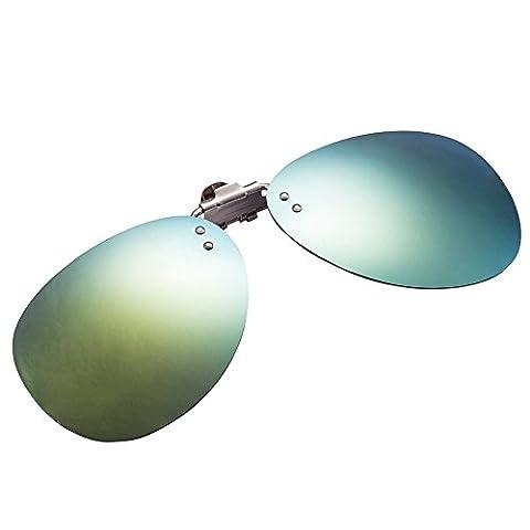 Zheino 1904 Fashionable Men Women Polarized Clip-on Flip-up Plastic Sunglasses Lenses Glasses Driving Fishing Outdoor Sport Gold