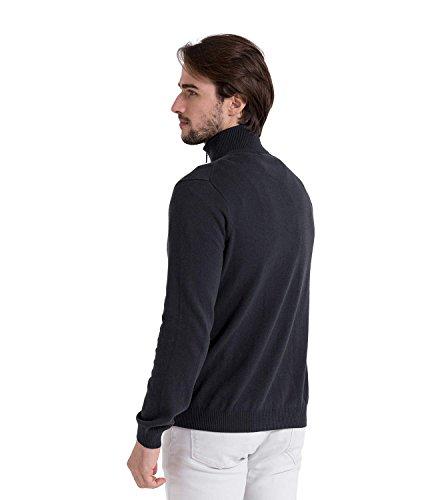 WoolOvers Strickjacke mit Reißverschluss - Herren (Cotton-Cashmere) - C26 Navy