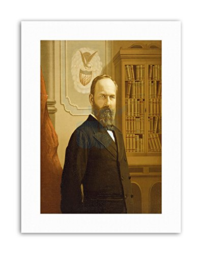 PAINTINGS PRESIDENT JAMES GARFIELD USA ASSASSINATED NEW Poster Picture Painting