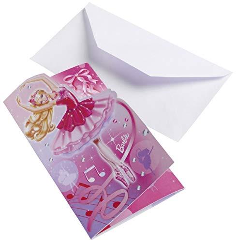 6Einladungen und Umschläge (Barbie Pink) ()