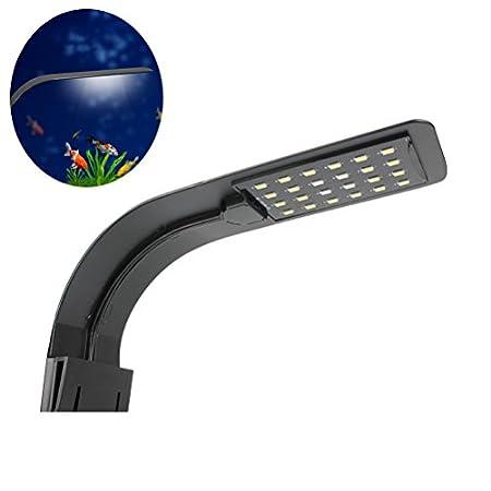 UEETEK Aquarium Beleuchtung mit Clip Fisch Tank LED Leuchte Lampe 10W (weißes Licht)
