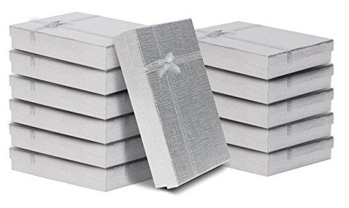 Kurtzy 12-teiliges Geschenkboxen Set - Präsentations Schachtel mit Schaumstoff-Einlage - 16 x 12 x...