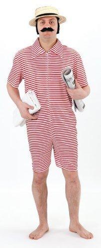 Fun World - 1920er Strand Adonis Gentleman Badender Mann - Erwachsene Kostüm - Herren: 38-50 (Anzug 1920 Männer)