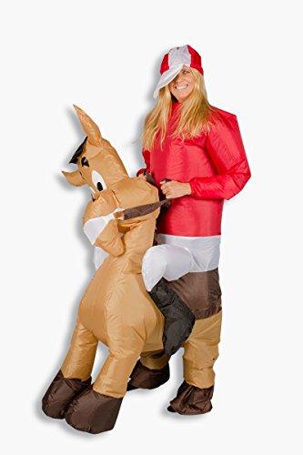 Und Für Ponys Pferde Kostüm - Aufblasbares Kostüm Pferd Comic Pony Reiter Karneval Junggesellenabschied Angebot