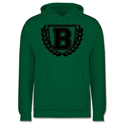 Anfangsbuchstaben - B Collegestyle - Männer Premium Kapuzenpullover / Hoodie Grün