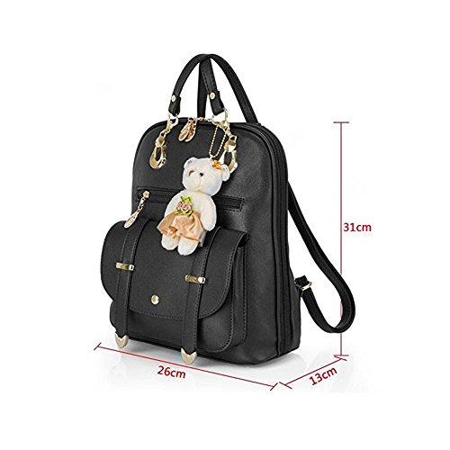 Frauen Rucksäcke Handtaschen Sweet PU Leder Schule College Reise Outdoor Tasche für Mädchen Damen Taschen. (Königsblau) Gold