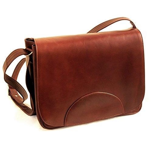 6764298c77477 Damen Handtasche Größe M   Umhängetasche im Retro-Look aus Büffel-Leder