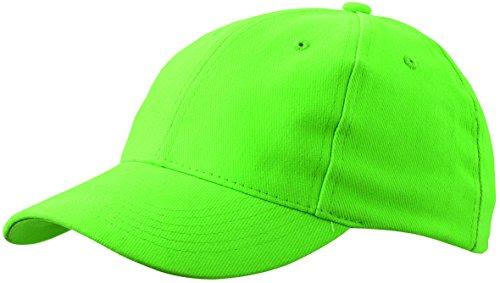 Cappello da baseball 6 pannelli con piastra curva , posteriore regolabile in verde lima - Lima Cappello