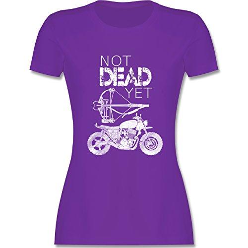 Statement Shirts - Not Dead Yet - Motorrad Armbrust - tailliertes Premium T-Shirt mit Rundhalsausschnitt für Damen Lila