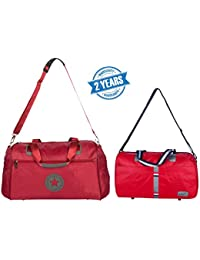 3G Campus & Tommy Duffle Travel Bag Combo Of 2 Set (2 Years Warranty) RED