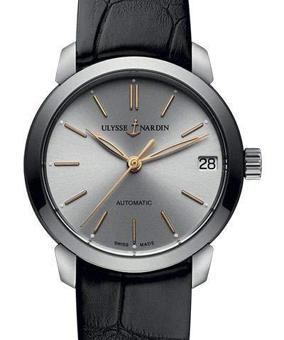Ulysse Nardin Classico orologio automatico da donna con quadrante argentato 8103-116-2/91