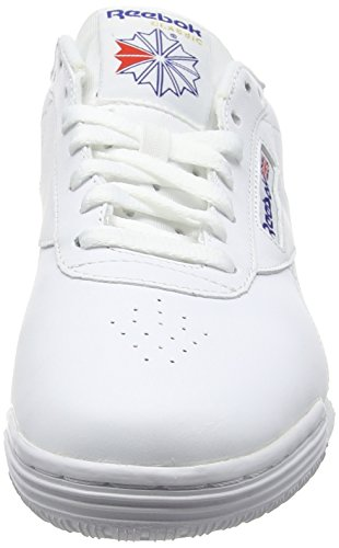 Reebok Ex-o-Fit Clean Logo INT, Baskets Basses Garçon, Blanc Blanc Cassé (Int/whiteroyal Blueroyal Blue)