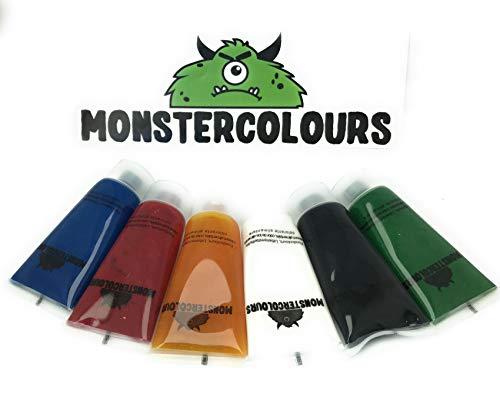 6 x25ml Monstercolours Lebensmittelfarbe flüssig