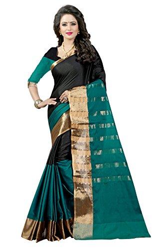 Shree Sanskruti Women's Poly Cotton Saree With Blouse Piece (Aura 16 Rama...