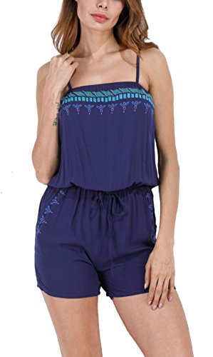 reputable site 03b95 4d172 Landove Boho Tuta Jumpsuit Donna Corto Playsuit Senza ...