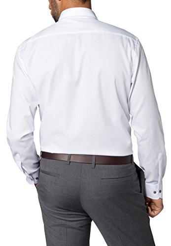 ETERNA long sleeve Shirt MODERN FIT Twill checked azzurro chiaro. Mrs  Duberess Camicia Basic Collo a U donna Blue.