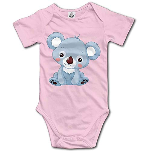 TKMSH Unisex Baby's Climbing Clothes Set Bear Bodysuits Romper Short Sleeved Light Onesies for 0-24 ()