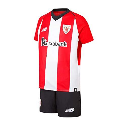 New Balance AC Bilbao Primera Equipación 2018-2019 Niño, Conjunto, White-Red, Talla LB