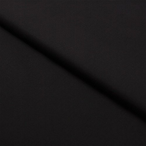 stoff-meterware-uni-einfarbig-baumwolle-linon-bekleidungsstoff-dekostoff-nahen-schneidern-schwarz