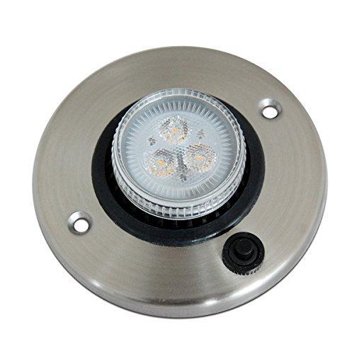 Dream Lighting 12V LED Einbauleuchte Einstellbare Lichtrichtung Runde Platte aus Edelstahl